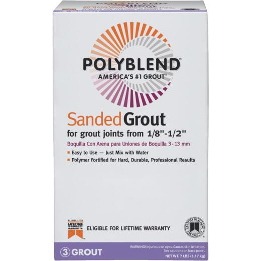 Custom Building Products Polyblend 7 Lb. Earth Sanded Tile Grout