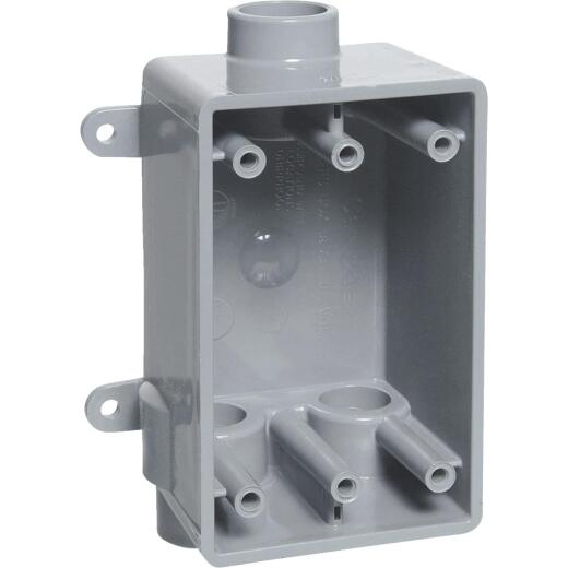 Carlon 1-Gang PVC Molded Wall Box